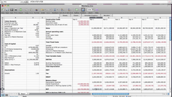 Example Of Business Valuation Spreadsheet Discounted Cash Flow In Business Valuation Spreadsheet