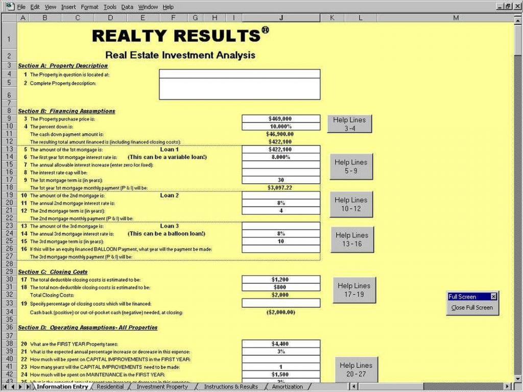 Example Of Rental Property Calculator Spreadsheet Real Estate Inside Real Estate Investment Calculator Spreadsheet