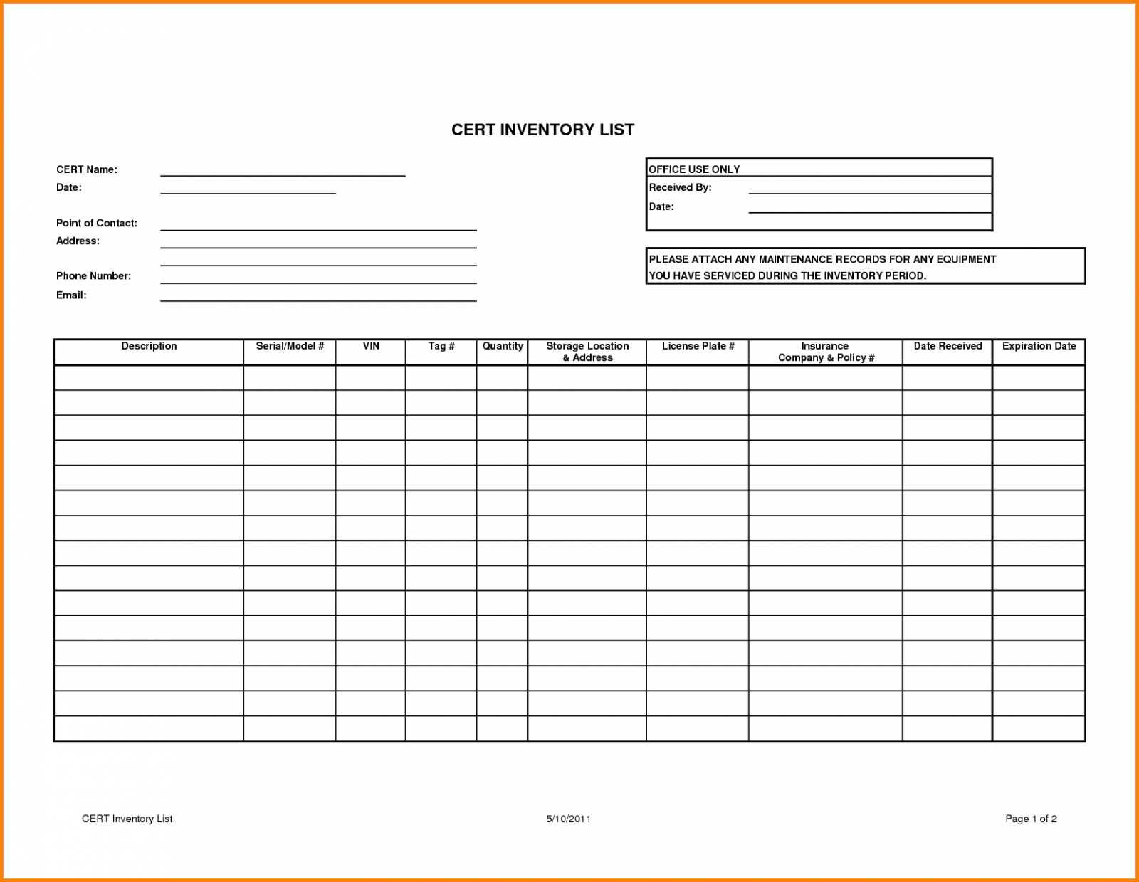 Example Of Simple Inventory Tracking Spreadsheet Management Template And Inventory Tracking Form