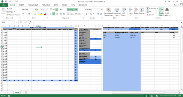 Excel Budget Report Template | Excel Business Templates And Dashboards To Credit Card Expense Report Template