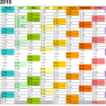 Excel Calendar 2015 (Uk): 16 Printable Templates (Xlsx, Free) Throughout Excel Spreadsheet Training Free Online