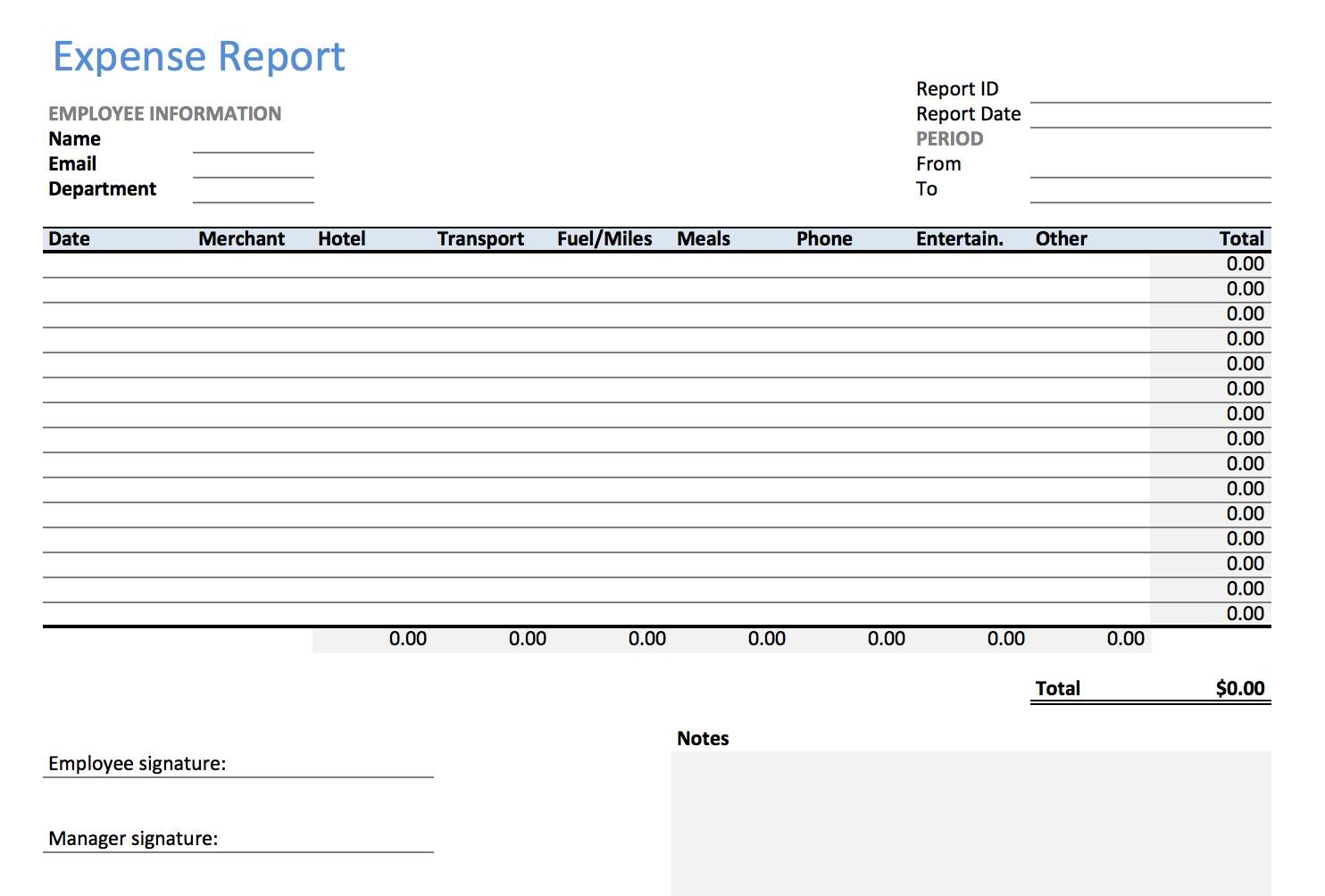 Excel Expense Report Template   Keepek In Business Expenses Report Template Excel