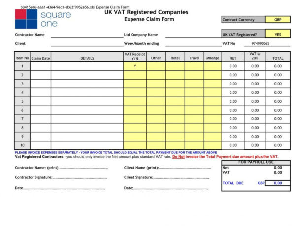 Excel Expenses Template Uk   Southbay Robot With Excel Expenses Template Uk