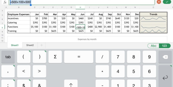 Excel For Ipad: The Macworld Review | Macworld Intended For Spreadsheet For Ipad Compatible With Excel