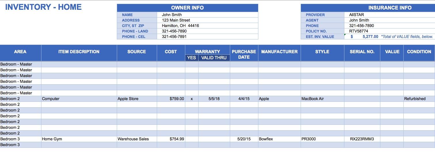 Excel Inventory Spreadsheet Download - Durun.ugrasgrup In Excel Inventory Template Free Download