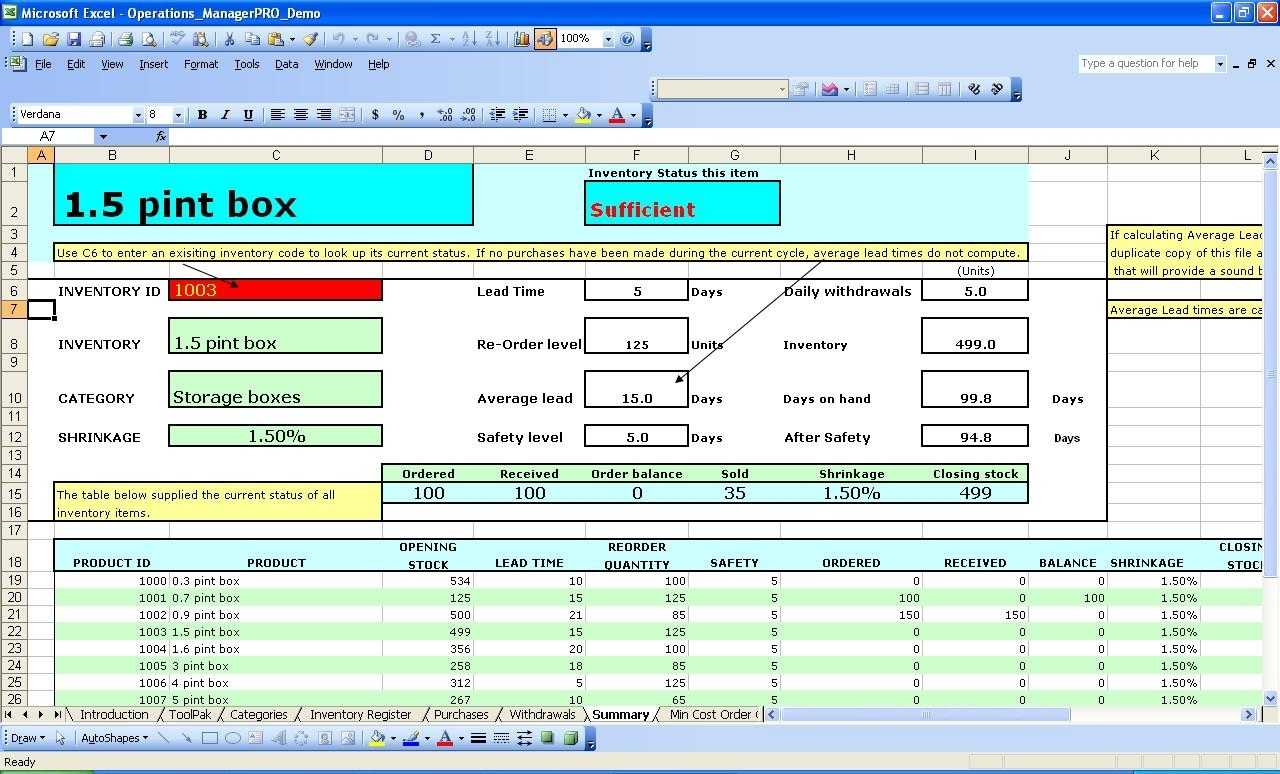 Excel Inventory Spreadsheet Download | Sosfuer Spreadsheet In Inventory Management Spreadsheet Free Download