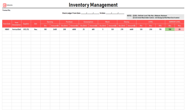 Excel Inventory Template: Free Inventory Excel Spreadsheet To Excel Inventory Management Template