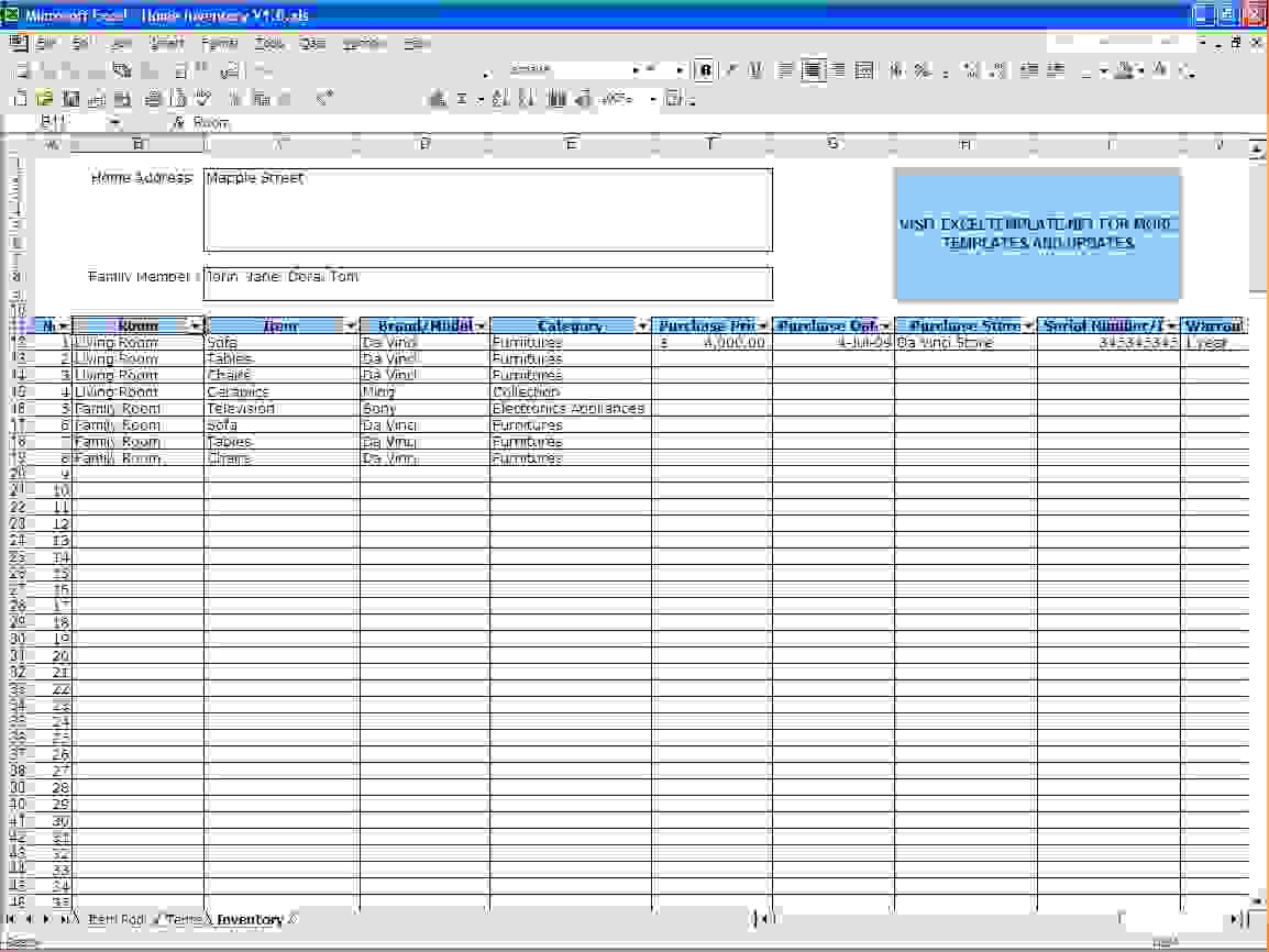Excel Inventory Tracking Spreadsheet Template As Google Spreadsheet To Inventory Tracking Templates