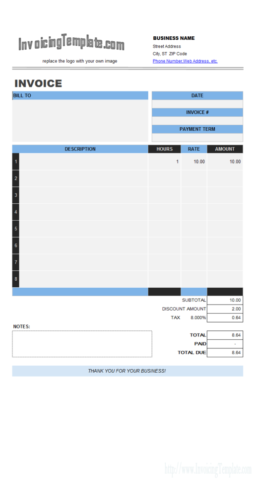 Excel Invoice Generator Template   20 Results Found With Invoice Excel Template