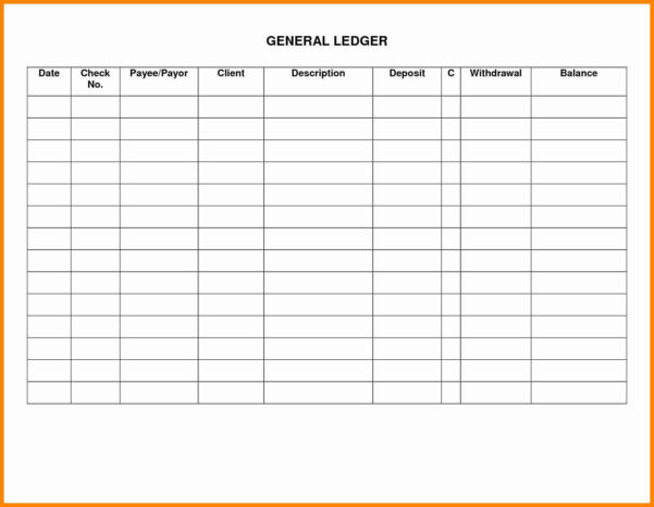 Excel Ledger Template Luxury General Ledger Template Excel Or Throughout Excel Accounting Ledger Template