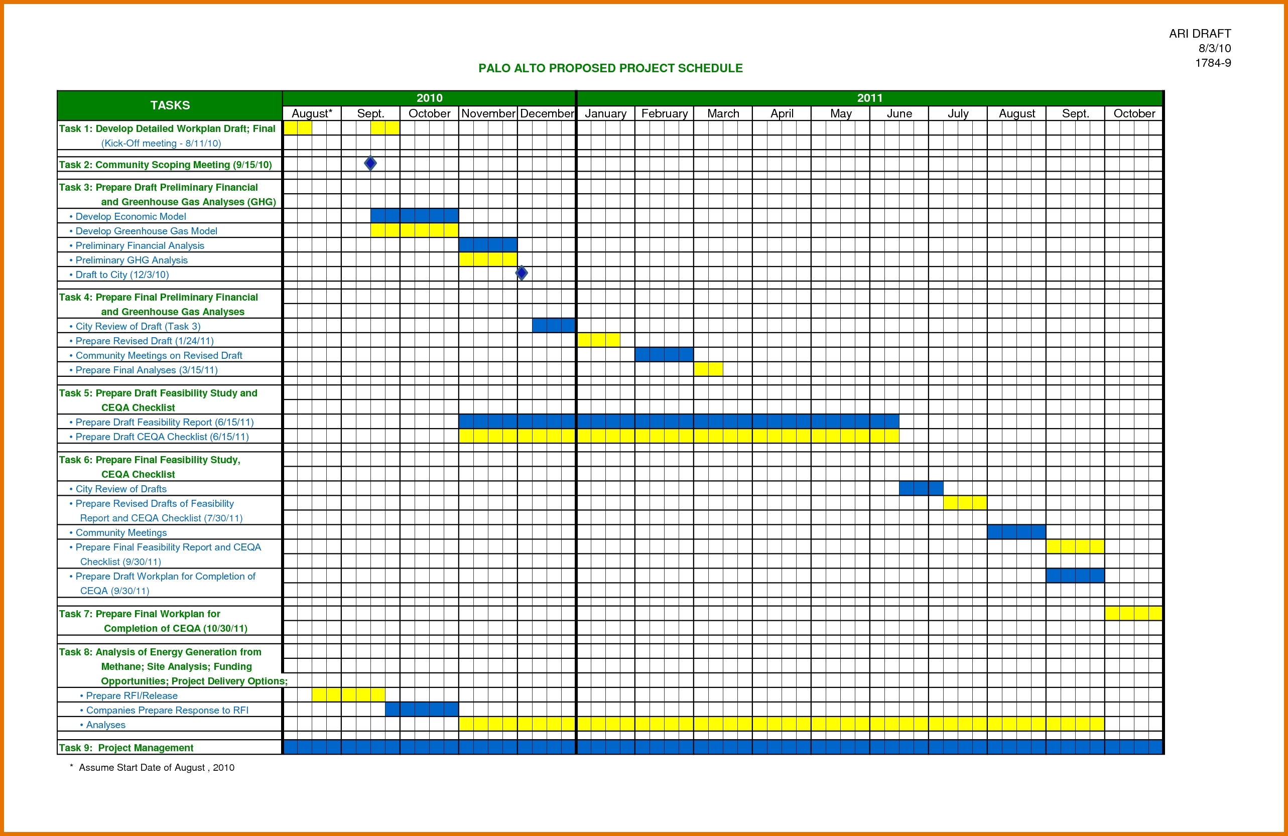 Excel Project Schedule Template Free 28 Images Schedule Intended For To Project Timeline Excel Template Free Download
