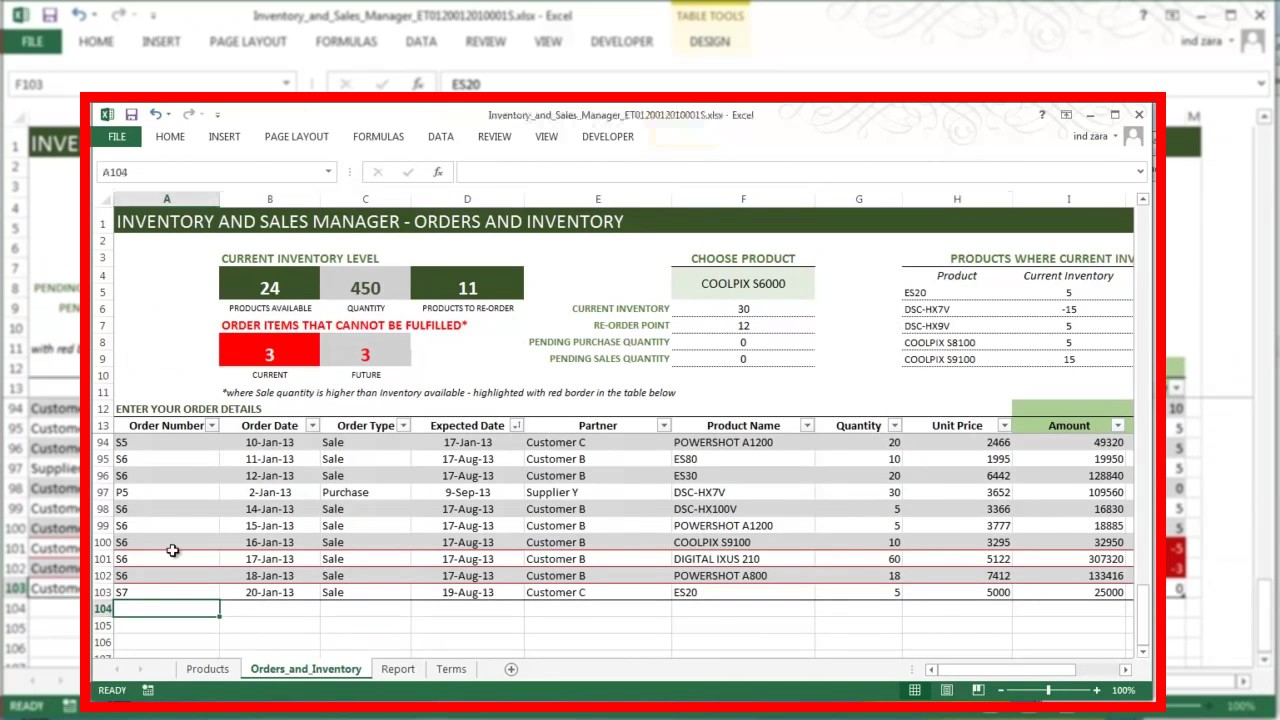 Inventory Management System In Excel Free Download   db ...