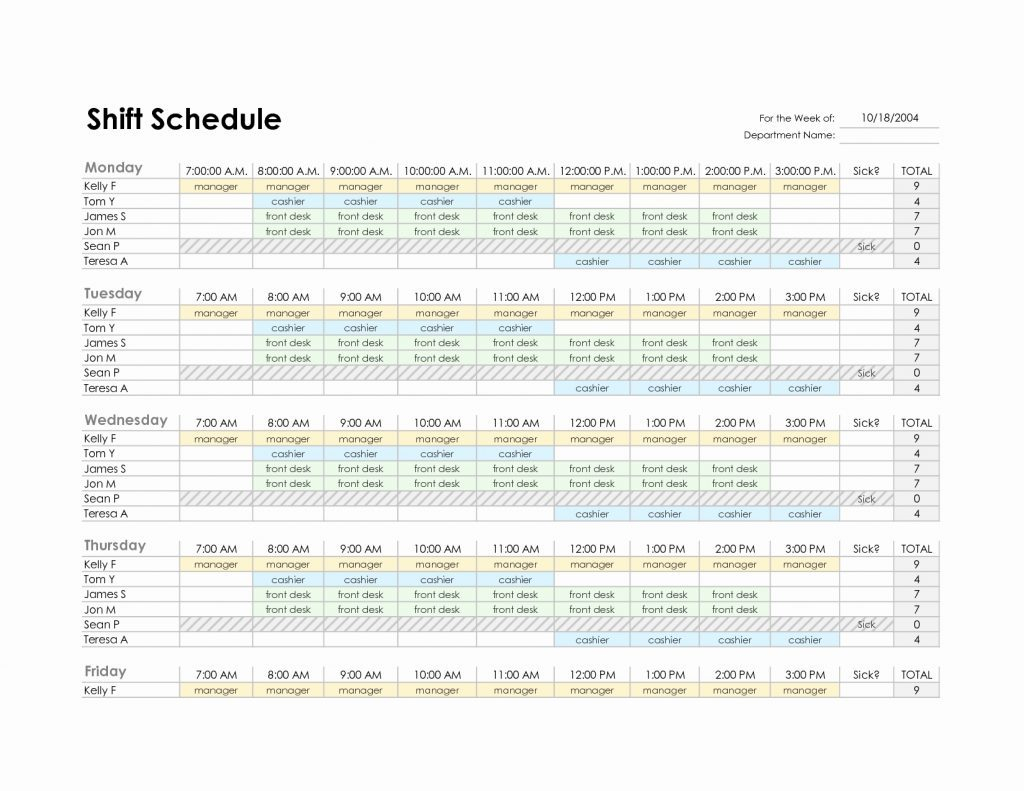 Excel Spreadsheet Template For Employee Schedule On How To Create An Inside Employee Schedule Excel Spreadsheet