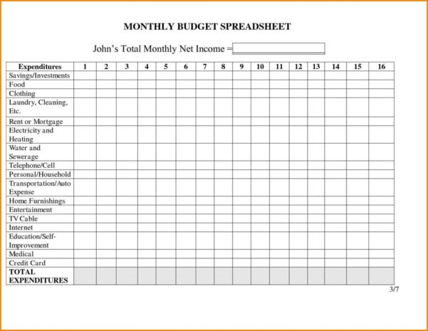 Excel Template Monthly Personal Expenses | Greenpointer For Cleaning In Cleaning Business Expenses Spreadsheet