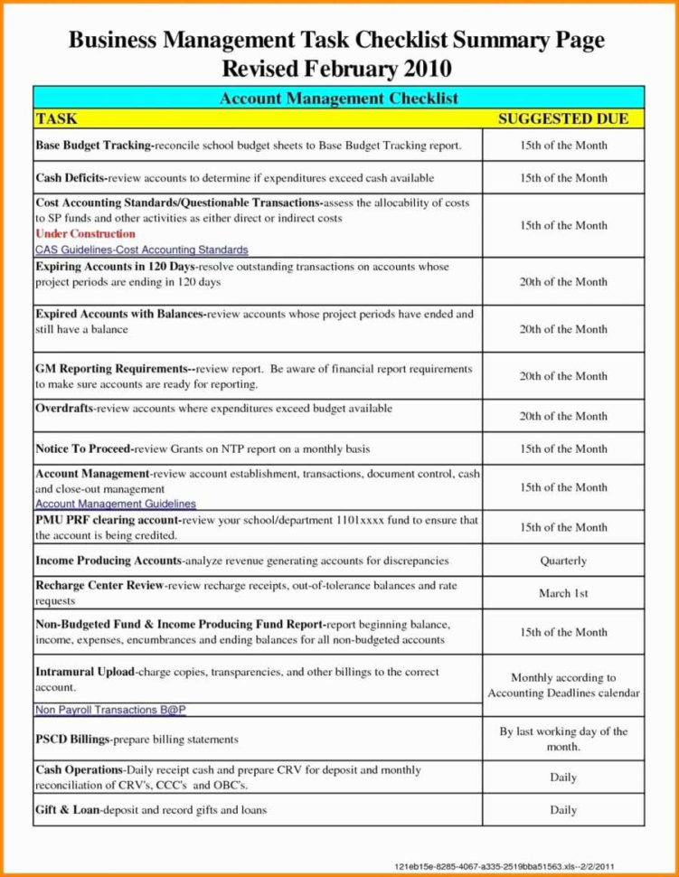 Excel Templates For Accounting Small Business Excel Spreadsheet For Inside Monthly Accounting Checklist Template