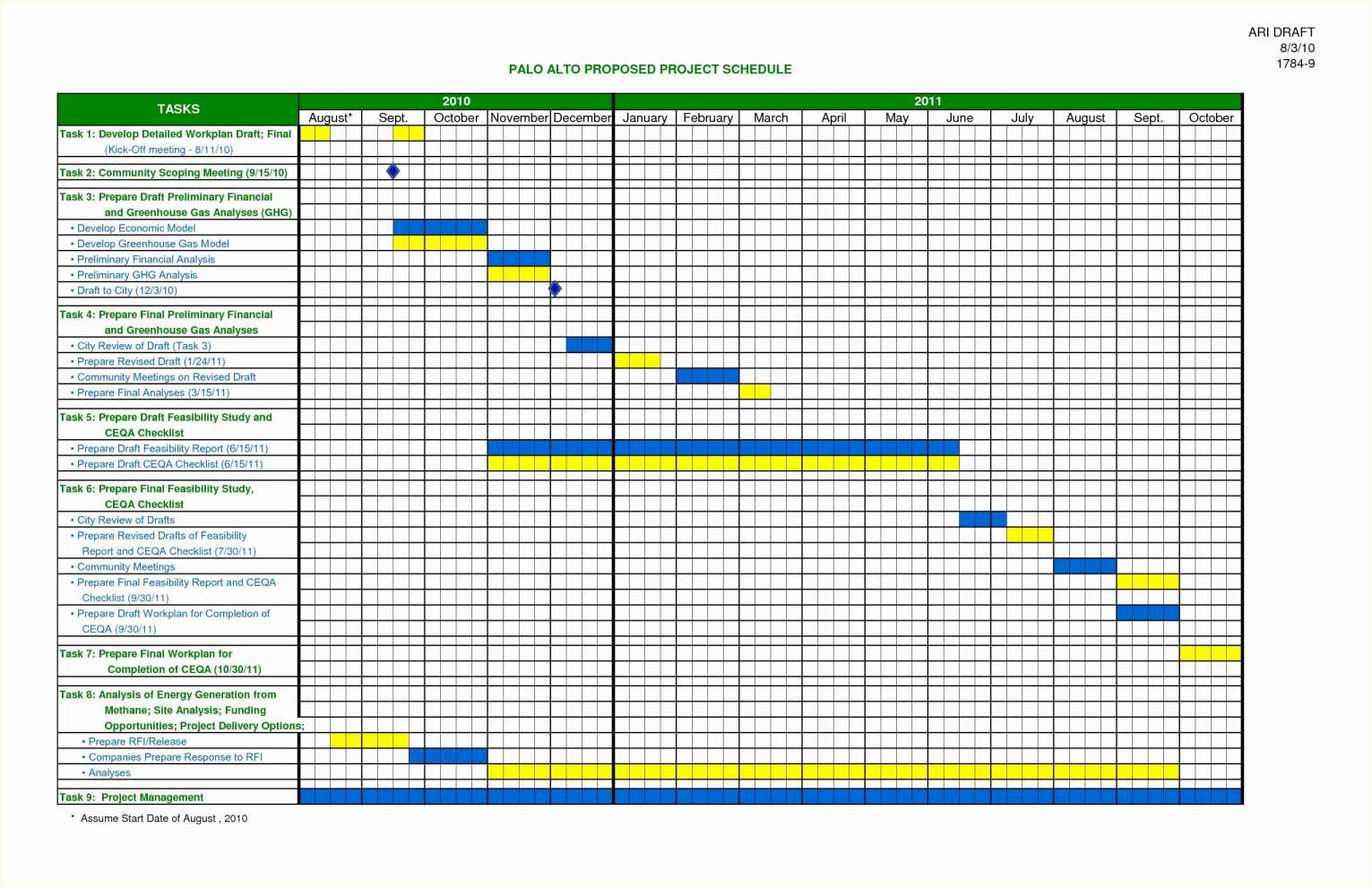 Project Management Timeline Template Word Timeline