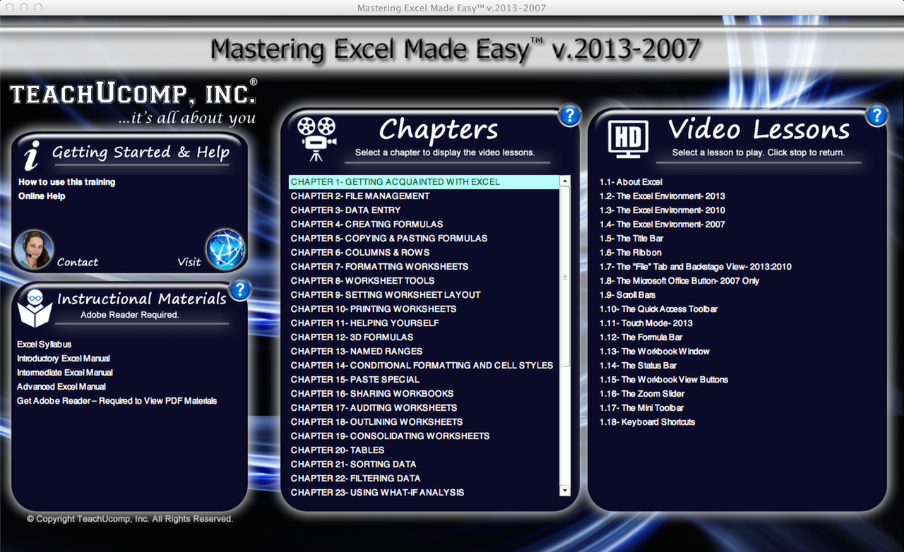Excel Training Tutorial Free Online For Excel 2013 To Excel Spreadsheet Courses Online