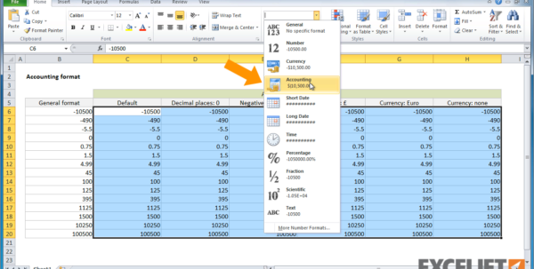 Excel Tutorial: How To Use Accounting Formatting In Excel And Basic Accounting Excel Formulas