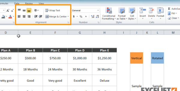 Excel Tutorial: How To Use Text Orientation In Excel For How Do You Do Spreadsheets