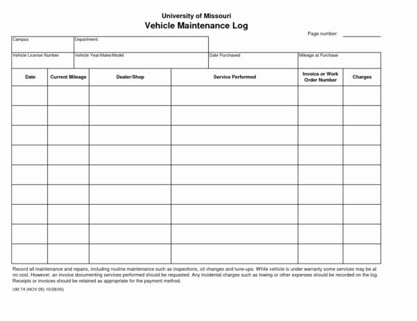 Excel Vehicle Maintenance Log Fresh Auto Maintenance Log Book Throughout Truck Maintenance Spreadsheet