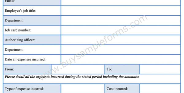 Exceptional Expense Report Form Templates Template Excel Printable For Expense Report Form Excel