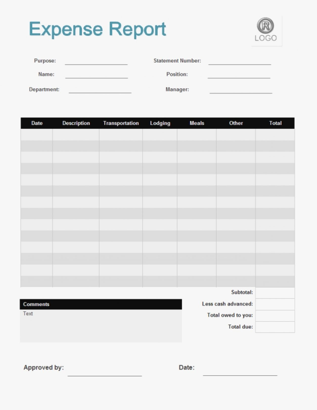 Expense Report Form Suitable Nor Expenses Forms – Cisatl Throughout Simple Expense Form
