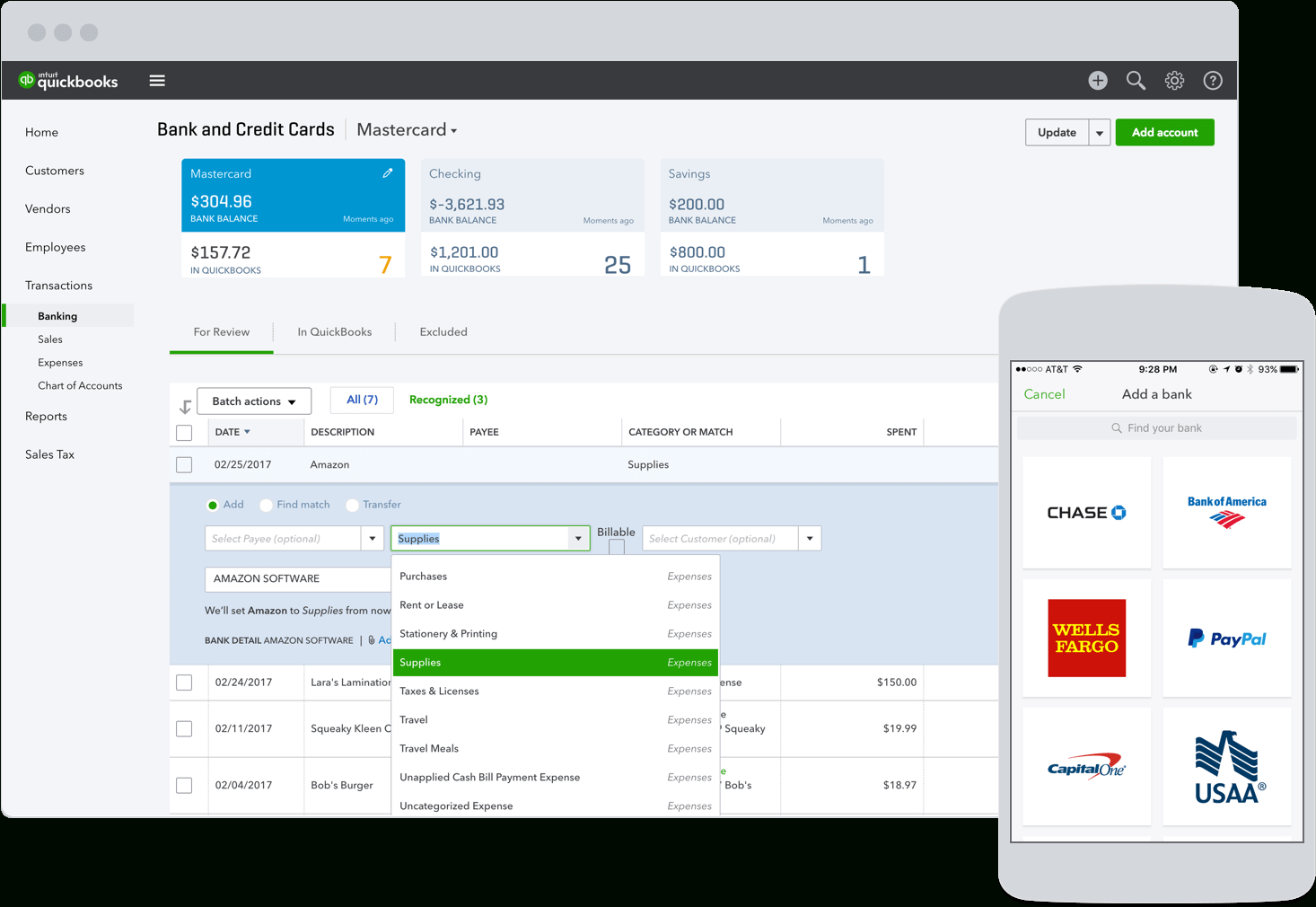 Expense Tracker App | Business Income & Expense Reports | Quickbooks With Online Business Expense Tracker