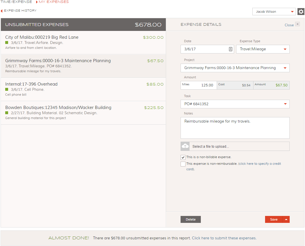 Expense Tracking Software App   Bigtime Iq Inside Project Expense Tracking