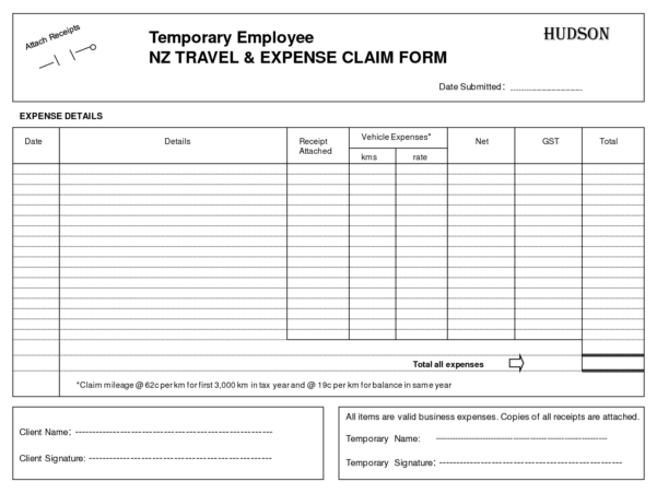 Expenses Claim Form Template Free   Durun.ugrasgrup In Business Expenses Claim Form Template