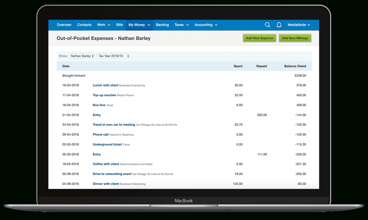 Expenses Software To Track All Your Costs, Even On The Go   Freeagent Intended For Business Expense Tracking Software