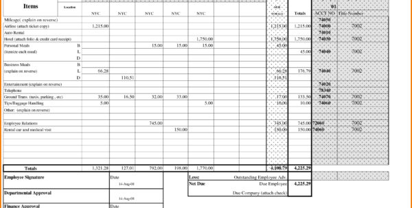 Expenses Template Free   Resourcesaver For Business Expense Report Template Free
