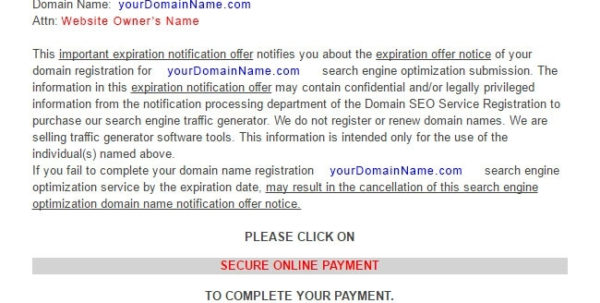 Fake Domain Registration Or Seo Invoice Emails – Blog With Domain With Domain Name Invoice