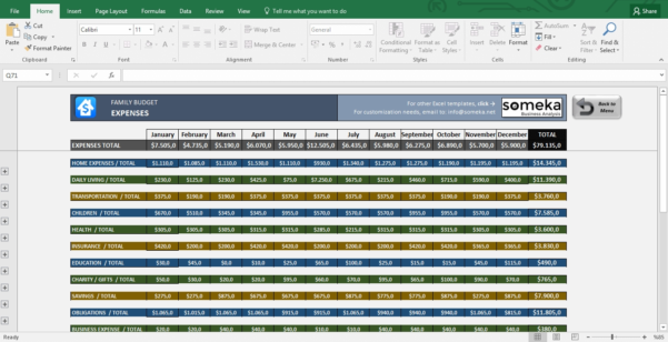 Family Budget Excel Budget Template For Household To Microsoft Excel In Microsoft Excel Budget Spreadsheet