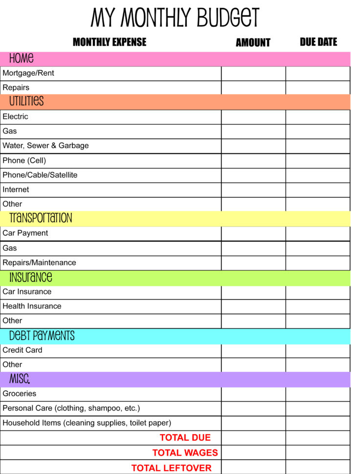 Family Financial Planning Worksheet   Resourcesaver Within Budget Planning Spreadsheet