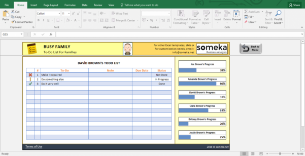 Family To Do List   Printable Checklist Template In Excel Intended For Excel To Do List Tracker