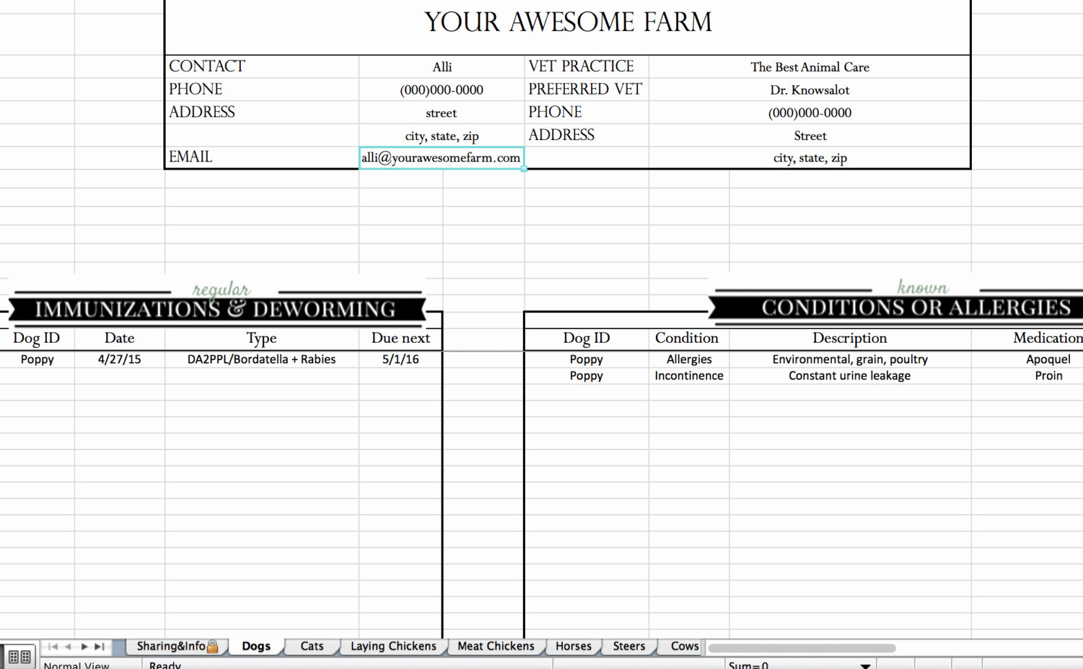 Farm Bookkeeping Spreadsheet Best Of Free Farm Record Keeping Intended For Farm Bookkeeping Spreadsheet