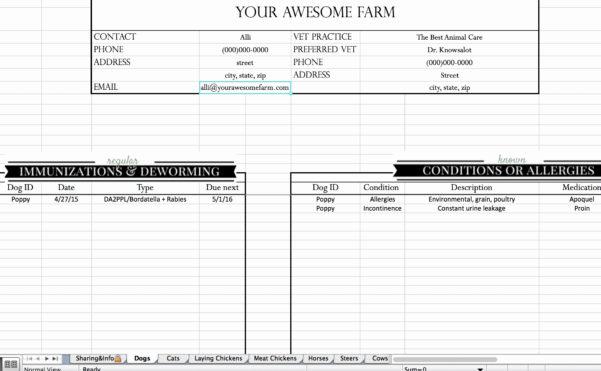 Farm Bookkeeping Spreadsheet Best Of Free Farm Record Keeping Intended For Farm Bookkeeping Spreadsheet