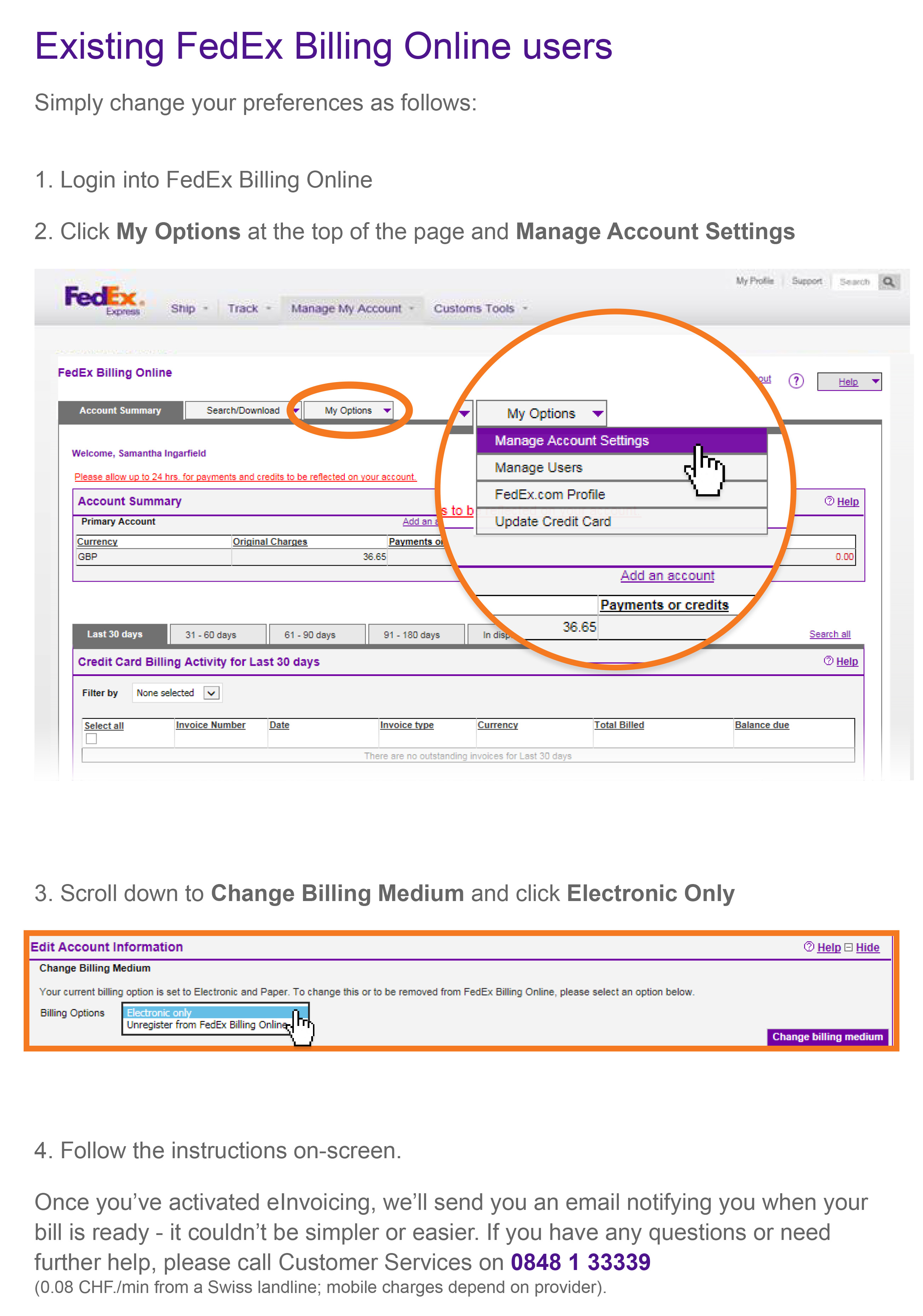 Fedex Billing Online   Fedex | Switzerland Intended For Fedex Invoice