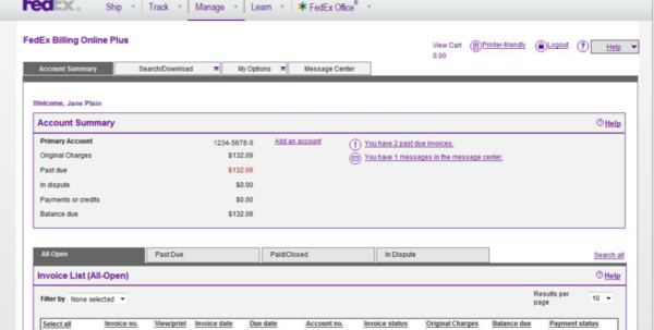 Fedex Invoice Management | Financial Services Office | The Intended For Fedex Invoice