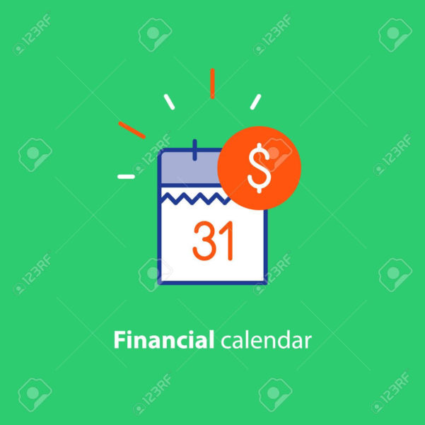 Financial Calendar, Annual Payment Day, Monthly Budget Planning With Monthly Financial Planning