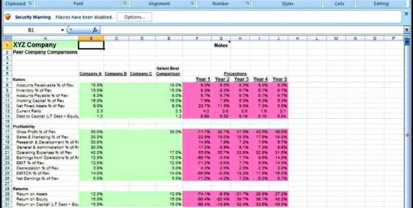 Financial Projection Spreadsheet   Resourcesaver For Financial Projections Excel Spreadsheet