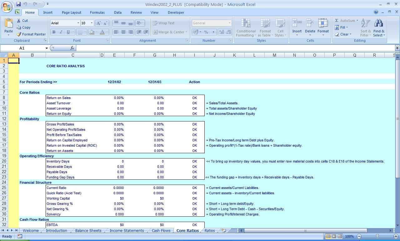 Financial Ratios Excel Spreadsheet As Excel Spreadsheet Accounting With Home Accounting Spreadsheet For Excel