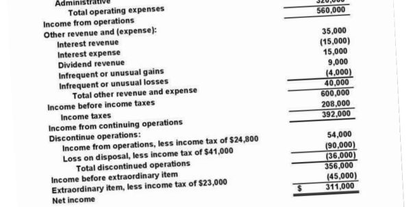 Financial Statement Sample Of A Small Business 5Gsr Basic Income Inside Income Statement Template For Small Business