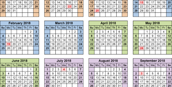 Fiscal Calendars 2018 As Free Printable Excel Templates Intended For Small Business Budget Template Nz