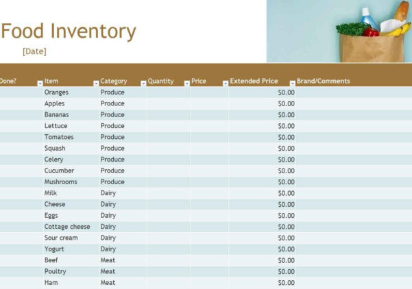 Food Cost And Inventory Spreadsheet | Khairilmazri Intended For Food Inventory Spreadsheet