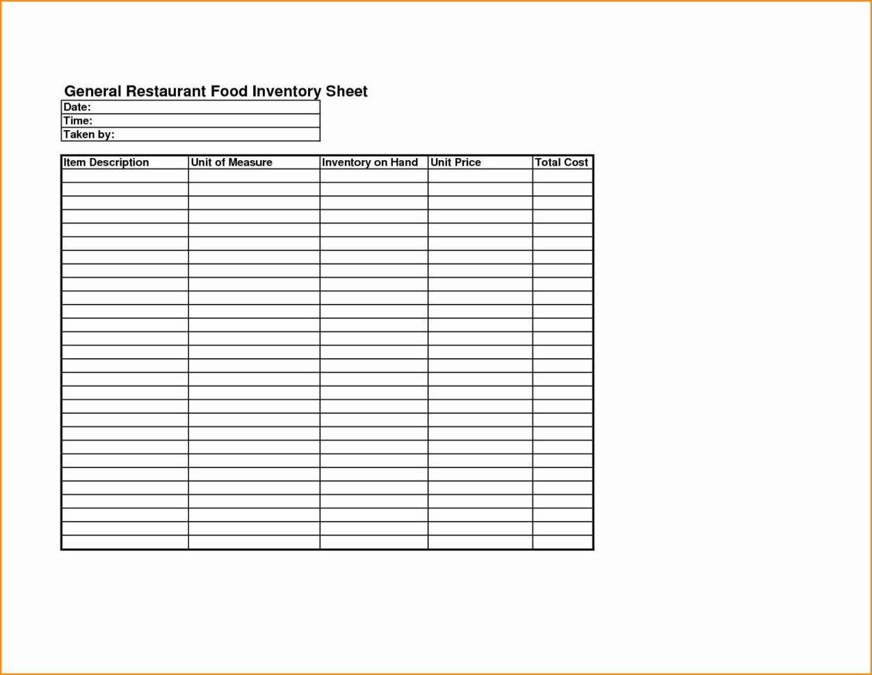 Food Cost Inventory Spreadsheet Best Of Food Cost Spreadsheet Excel With Free Restaurant Inventory Spreadsheet