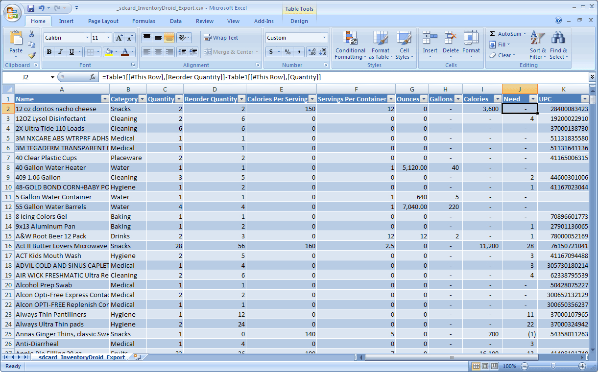 Food Storage Inventory Software System | Homestead Help With Software Inventory Spreadsheet