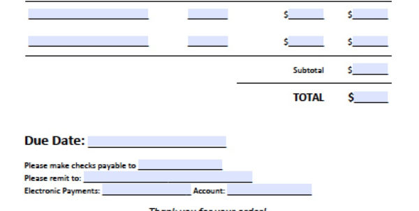Free Business Invoice Template | Excel | Pdf | Word (.doc) For Invoice Template Word Doc