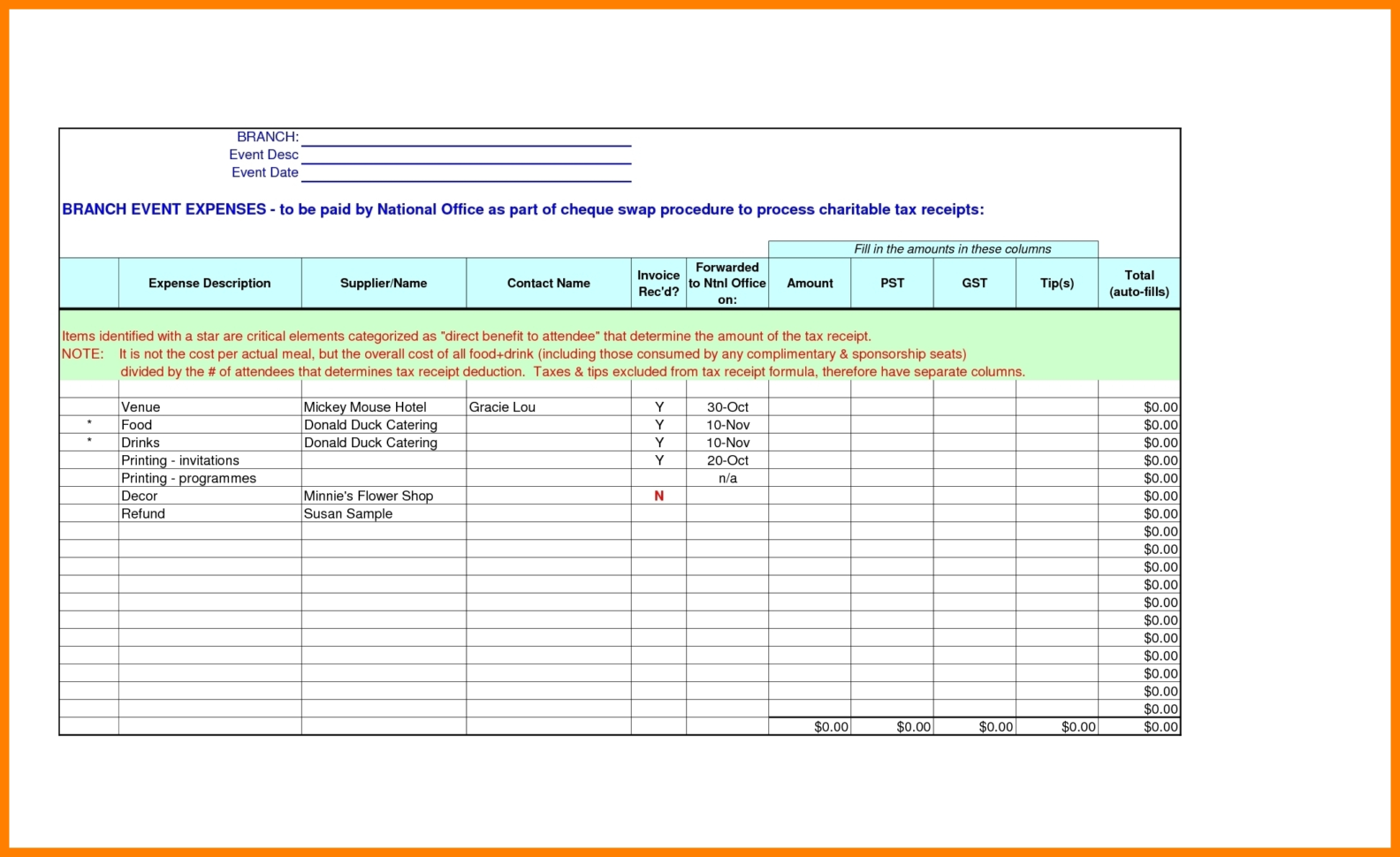 Free Catering Service Invoice Template | Excel | Pdf | Word (.doc To Catering Service Invoice