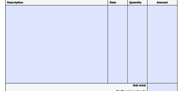 Free Construction Invoice Template   Excel   Pdf   Word (.doc) For Invoice Template Microsoft Word